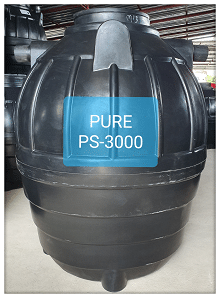 ถังบำบัดน้ำเสียสำเร็จรูป3000ลิตร