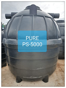 ถังบำบัดน้ำเสียสำเร็จรูป5000ลิตร