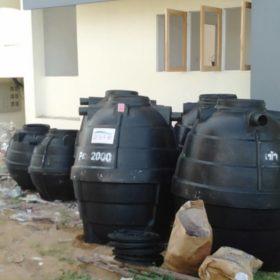 การทำงานถังบำบัดน้ำเสีย2000ลิตร