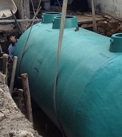 ถังบำบัดน้ำเสียสำเร็จรูป10000ลิตร