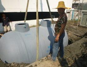 ค่าติดตั้งถังบำบัดน้ำเสียสำเร็จรูป