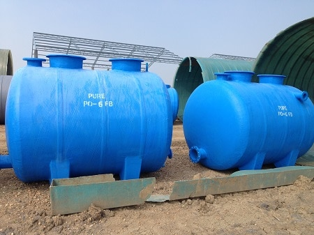 ถังบำบัดน้ำเสียโรงงาน